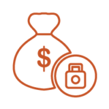 Line icon representing savings accounts