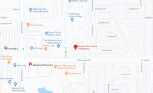 Western Sun Federal Credit Union Broken Arrow Main Office Branch google map screenshot linked to full map