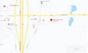Western Sun Federal Credit Union Owasso Branch google map screenshot linked to full map