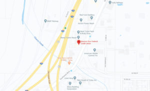 Western Sun Federal Credit Union West Tulsa Branch google map screenshot linked to full map