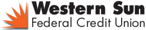 Western Sun Federal Credit Union Logo with Orange Sun Icon to left of text